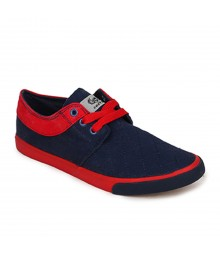 Vostro Dark Blue Red Casual Shoes for Men - VCS0162